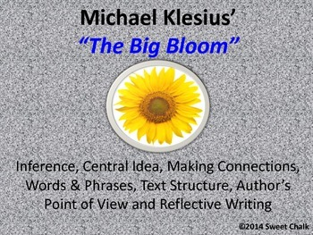 "A Mini Lesson using Excerpt ""Big Bloom"""