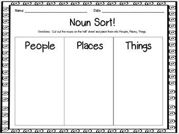 A Mini Unit:  Nouns are...