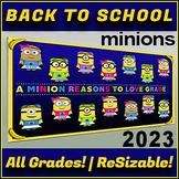 Minions Editable   Back To School Classroom Bulletin Board