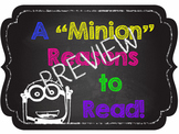 "A ""Minion"" Reasons to Read - Chalkboard Theme - Smaller Size"