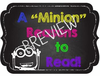 "A ""Minion"" Reasons to Read - Chalkboard Theme - Smaller Size"