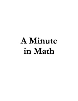 A Minute in Math: Multiplication Drills v1.1