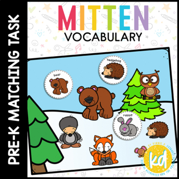 A Mitten Vocabulary Folder Game for Special Education