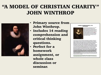"""A Model of Christian Charity"" - John Winthrop - US History/APUSH"