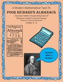 A Modern Mathematical Twist To POOR RICHARD'S ALMANACK