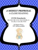A Modest Proposal - A Close Reading