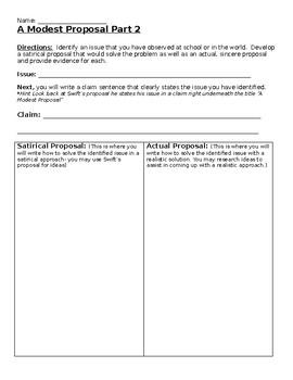 A Modest Proposal Activity