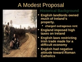 A Modest Proposal Introduction