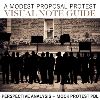 A Modest Proposal Protest Visual Note Guide By Doc Cop Teaching Tpt