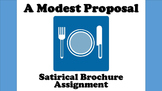 A Modest Proposal - Satirical Brochure Writing Activity