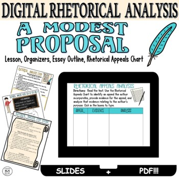 A Modest Proposal Lesson Plan Rhetorical Analysis Examples Short