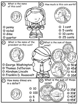A+ Money Math III...Pennies, Nickels, Dimes, and Quarters