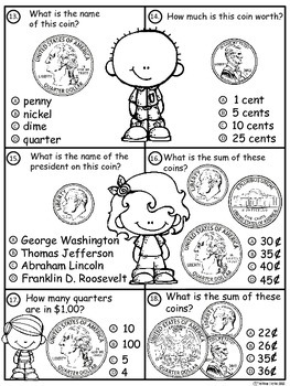 A+ Money Math II...Pennies, Nickels, Dimes, and Quarters