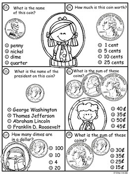 A+ Money Math I...Pennies, Nickels, Dimes, and Quarters