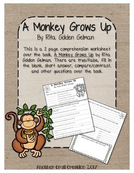 A Monkey Grows Up by Rita Golden Gelman