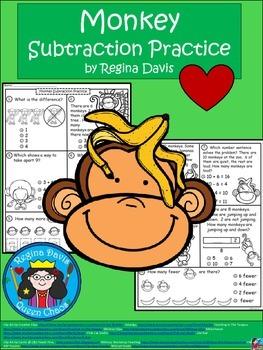 A+ Monkey Math: Subtraction