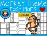 A+ Monkeys: Easy Plans...Editable Papers For Monkey Lessons