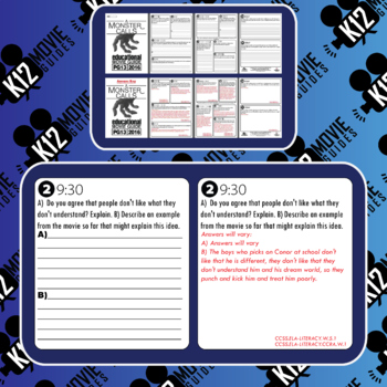 A Monster Calls Movie Guide   Questions   Worksheet (PG13 - 2016)