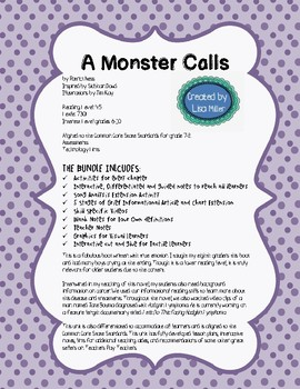 A Monster Calls Novel Unit with Differentiated/Interactive Notes ~ BUNDLE