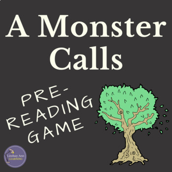 A Monster Calls by Patrick Ness Anticipation Activity