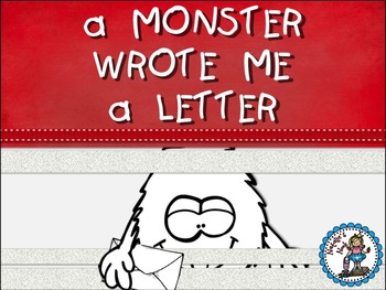A Monster Wrote Me A Letter Book Companion By Natalie S