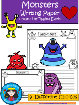 A+ Monsters: Differentiated Writing Paper
