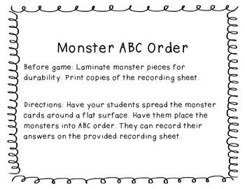 A Monster Literacy Unit