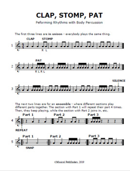 Learn Rhythms With Body Percussion: A Month Without Instruments - Week 2