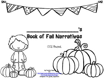 A Month of FIRST GRADE CCS Based Fall Writing Activities Packet!