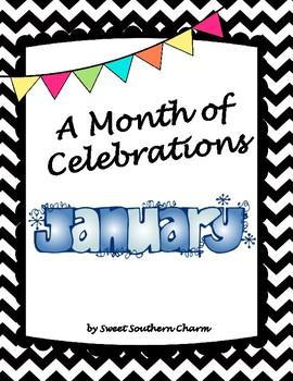 A Month of Celebrations January Bulletin Board