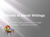 A Month of Interdisciplinary March Writing Prompts