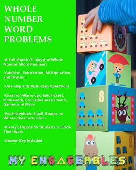 A Month of Whole Number Word Problems