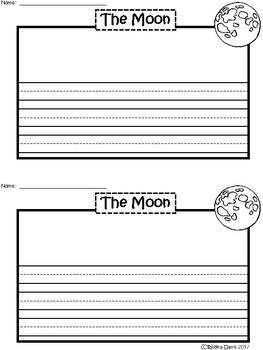 A+ Moon ... Writing Paper