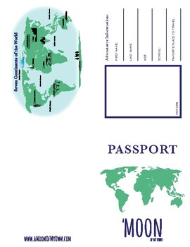 A Moon of My Own Passport (Foldable)