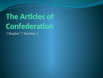 A More Perfect Union (1777-1790) PowerPoint Presentation