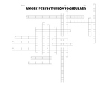 A More Perfect Union Vocabulary Crossword Puzzle