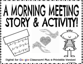 A Morning Meeting Story & Activity: Digital & Printable