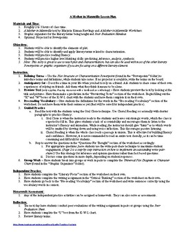 Lesson: A Mother in Mannville Lesson Plan, Worksheets, Key, PPTs
