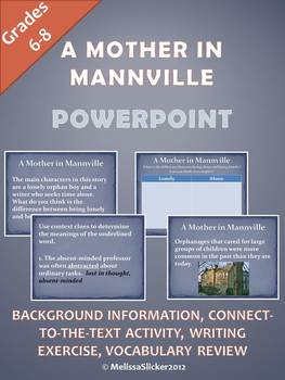 """A Mother in Mannville"" PowerPoint"