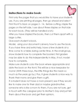 A Mother's Day Booklet