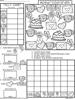 A+ Mother's Day: Count, Tally, Graph, and Compare