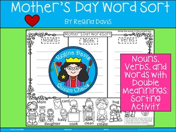 A+ Mother's Day Verb and Noun Sort
