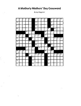 A Motherly Mothers' Day Crossword Puzzle
