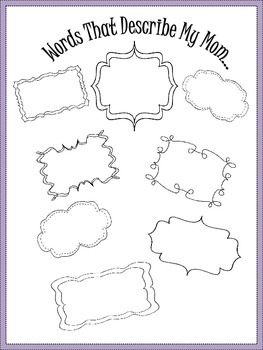 A Mother's Day Booklet/ Mother's Day Project For Students to Create