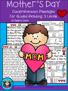 A+ Mother's Day... Comprehension: Differentiated Instruction For Guided Reading