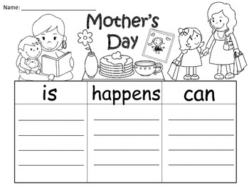 A+ Mother's Day  ... Three Graphic Organizers