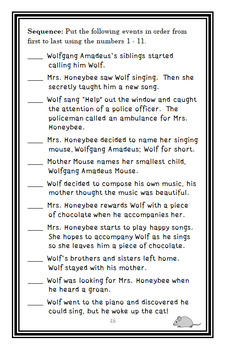 A Mouse Called Wolf (Dick King-Smith) Novel Study / Reading Comprehension