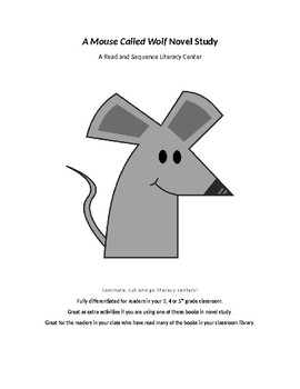 A Mouse Called Wolf - Read and Sequence Novel Study Center (Editable)