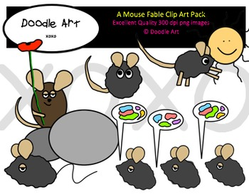 A Mouse Fable Clipart Pack