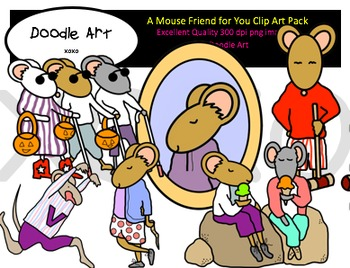 A Mouse Friend for You Clipart Pack